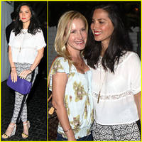 olivia munn: girls night out at chateau marmont with angela kinsey!